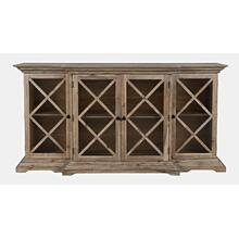 Carrington Large Breakfront Cabinet - Bisque