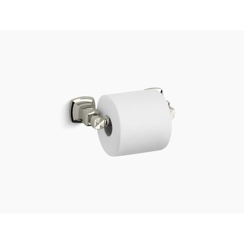Vibrant Polished Nickel Horizontal Toilet Paper Holder