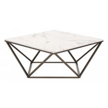 Tintern Coffee Table White & Antique Brass