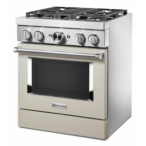 KitchenAid - KitchenAid® 30'' Smart Commercial-Style Dual Fuel Range with 4 Burners - Milkshake