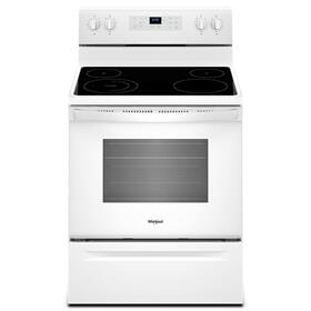5.3 cu. ft. Freestanding Electric Range with Adjustable Self-Cleaning White