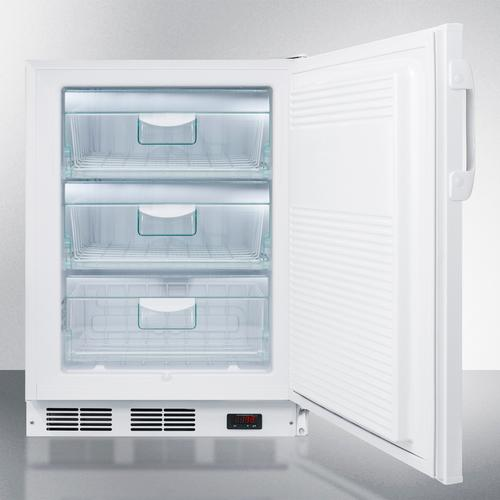 Commercial ADA Compliant Built-in Medical All-freezer Capable of -25 C Operation With Front Lock