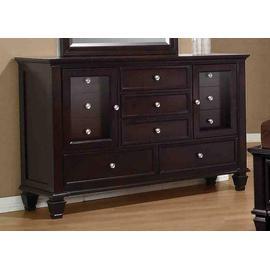 Sandy Beach Cappuccino Eleven-drawer Dresser