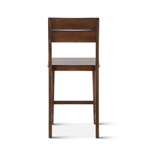 Mozambique Wooden Counter Chair Walnut