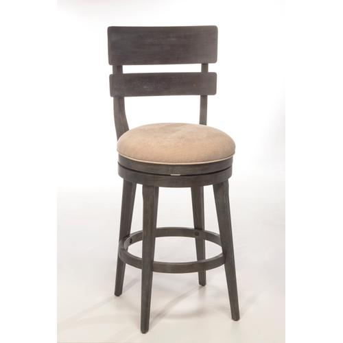 Leclair Swivel Bar Height Stool, Wirebrush Brown Gray