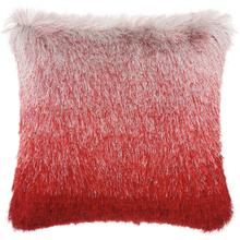 "Shag Tr011 Red/silver 20"" X 20"" Throw Pillow"
