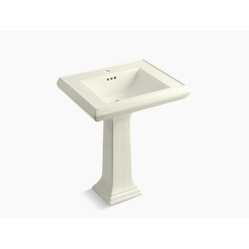 """Biscuit Classic 27"""" Pedestal Bathroom Sink With Single Faucet Hole"""