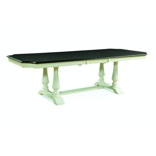 Grove Park Ext Table Top w/ Double Pedestal Base in Black Pearl/Shell