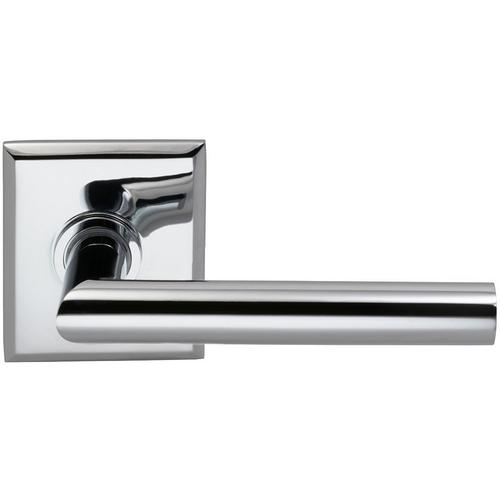 Product Image - Interior Modern Lever Latchset with Rectangular Rose in (US26 Polished Chrome Plated)