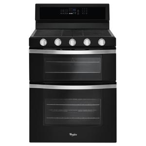 Whirlpool6.0 Cu. Ft. Gas Double Oven Range with EZ-2-Lift Hinged Grates