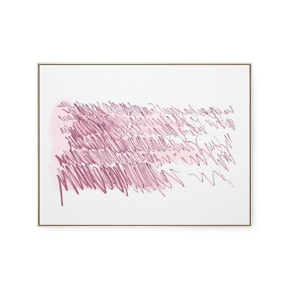 See Details - Agean Diary Framed Silk Panel, Purple