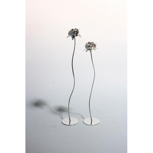 VIG Furniture - Bright Silver Flower Sculpture