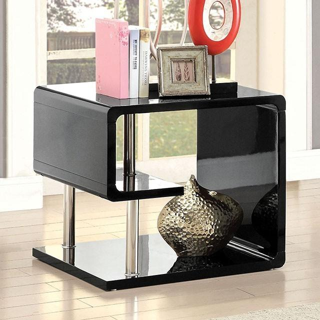 Ninove End Table, Black