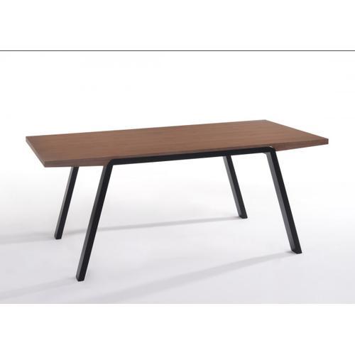 VIG Furniture - Modrest Quinn Modern Walnut & Teal Dining Set