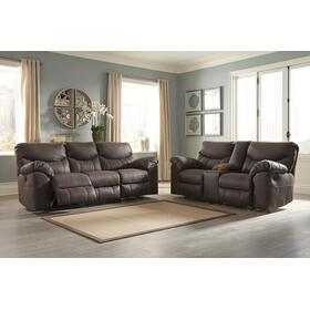 Boxberg Reclining Power Sofa & Console Loveseat Teak