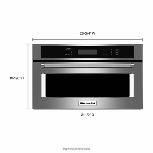 """KitchenAid - 27"""" Built In Microwave Oven with Convection Cooking - Stainless Steel"""