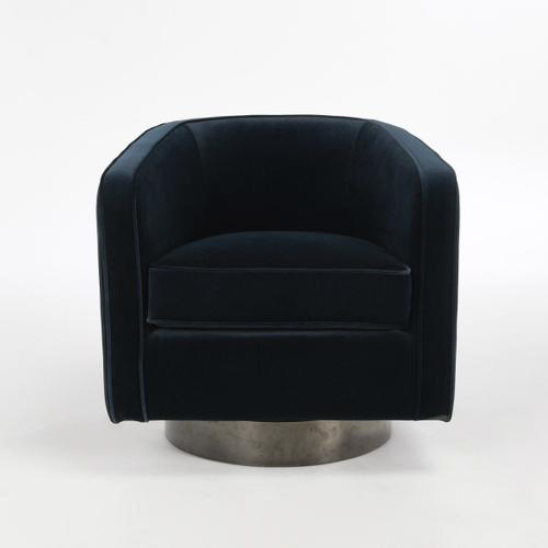 Classic Home - Eden Swivel Accent Chair Midnight Blue