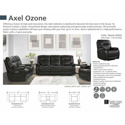 Parker House - AXEL - OZONE Power Recliner