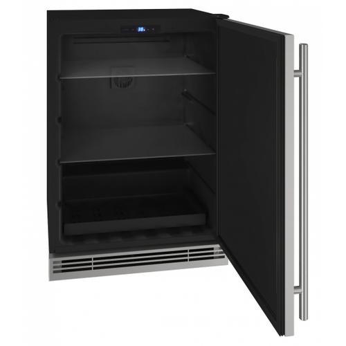"U-Line - Hre124 24"" Refrigerator With Stainless Solid Finish (115v/60 Hz Volts /60 Hz Hz)"