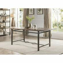 ACME LynLee Dining Table - 60015 - Weathered Dark Oak & Dark Bronze