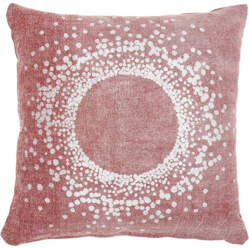 """Life Styles Gt626 Red 18"""" X 18"""" Throw Pillow"""