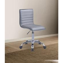 SILVER PU OFFICE CHAIR