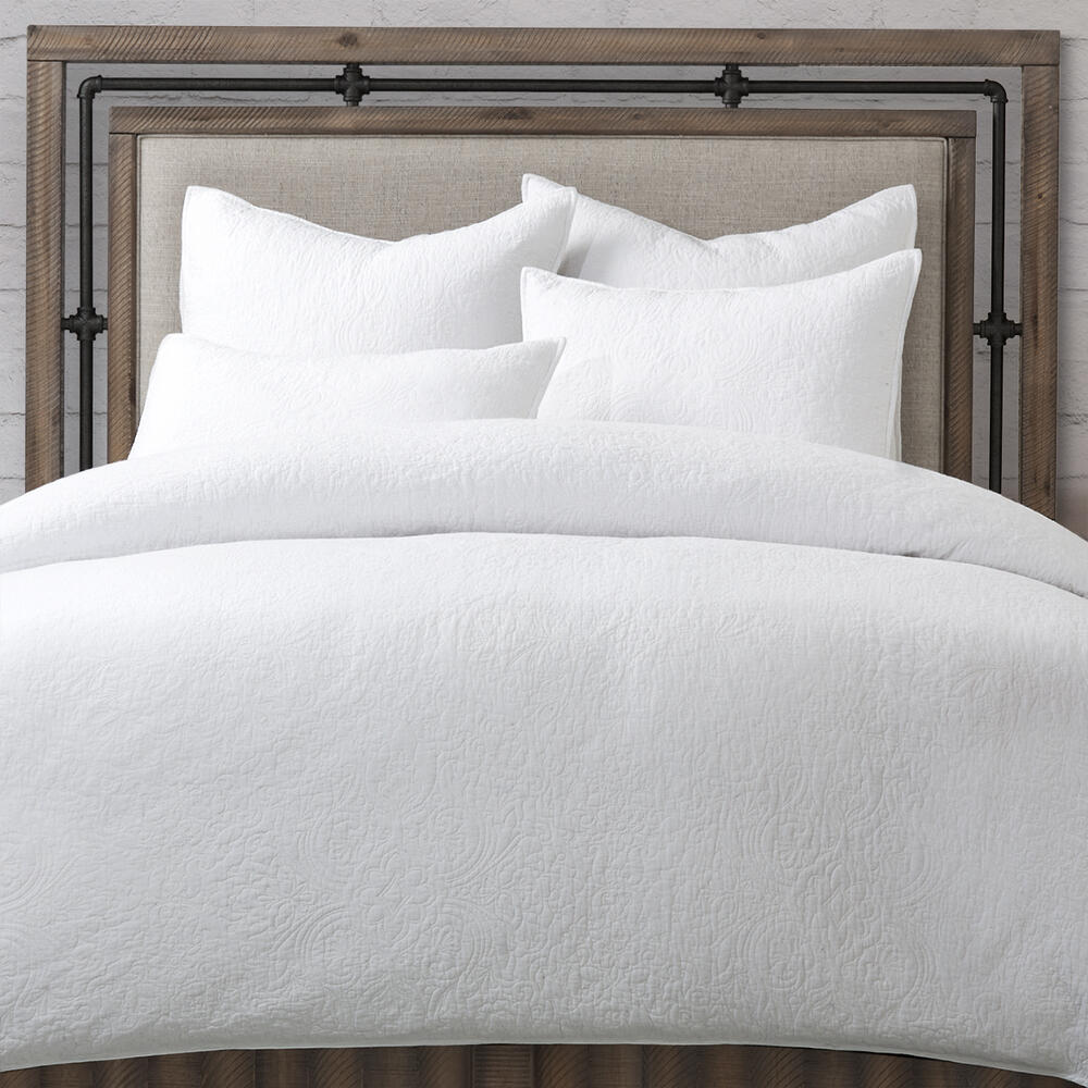 Bayberry 5pc Queen Duvet Set White