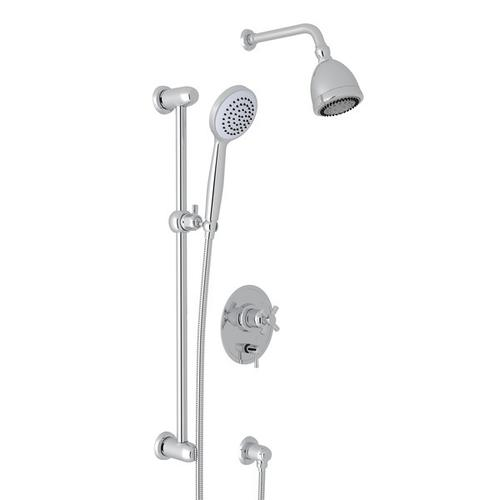 Polished Chrome Holborn Pressure Balance Shower Package with Holborn Cross Handle