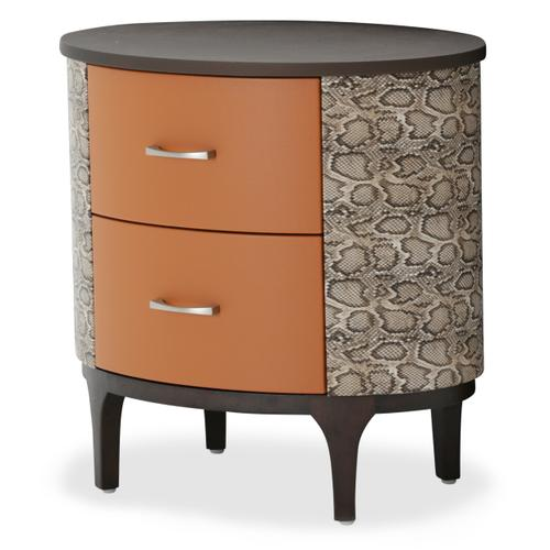 Oval Accent Cabinet-night Stand-end Table