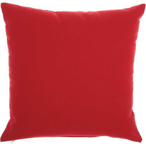 "Home for the Holiday L7029 Red 18"" X 18"" Throw Pillow"