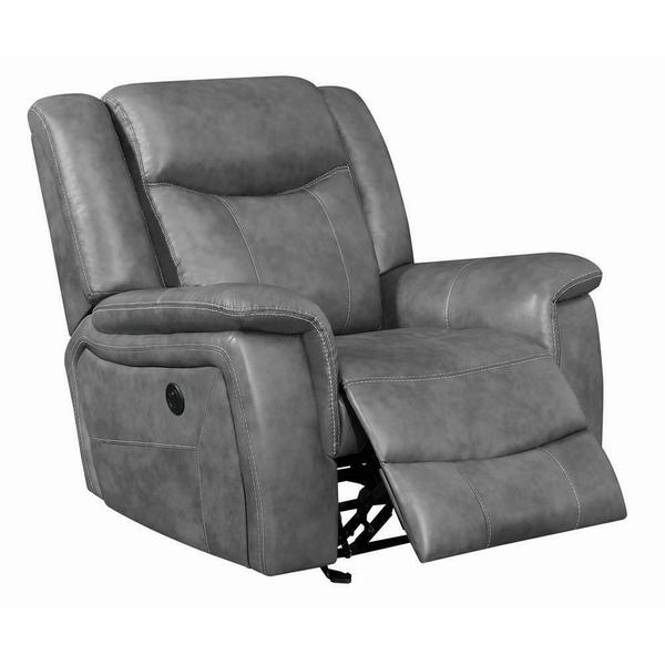 See Details - Conrad Transitional Grey Power Recliner