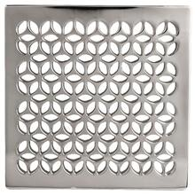 "Polished Nickel - Natural 4"" Square Shower Drain"