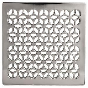 "Satin Nickel - PVD 4"" Square Shower Drain"