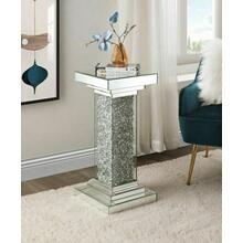 ACME Rekha Pedestal, Mirrored & Faux Diamonds - 97940