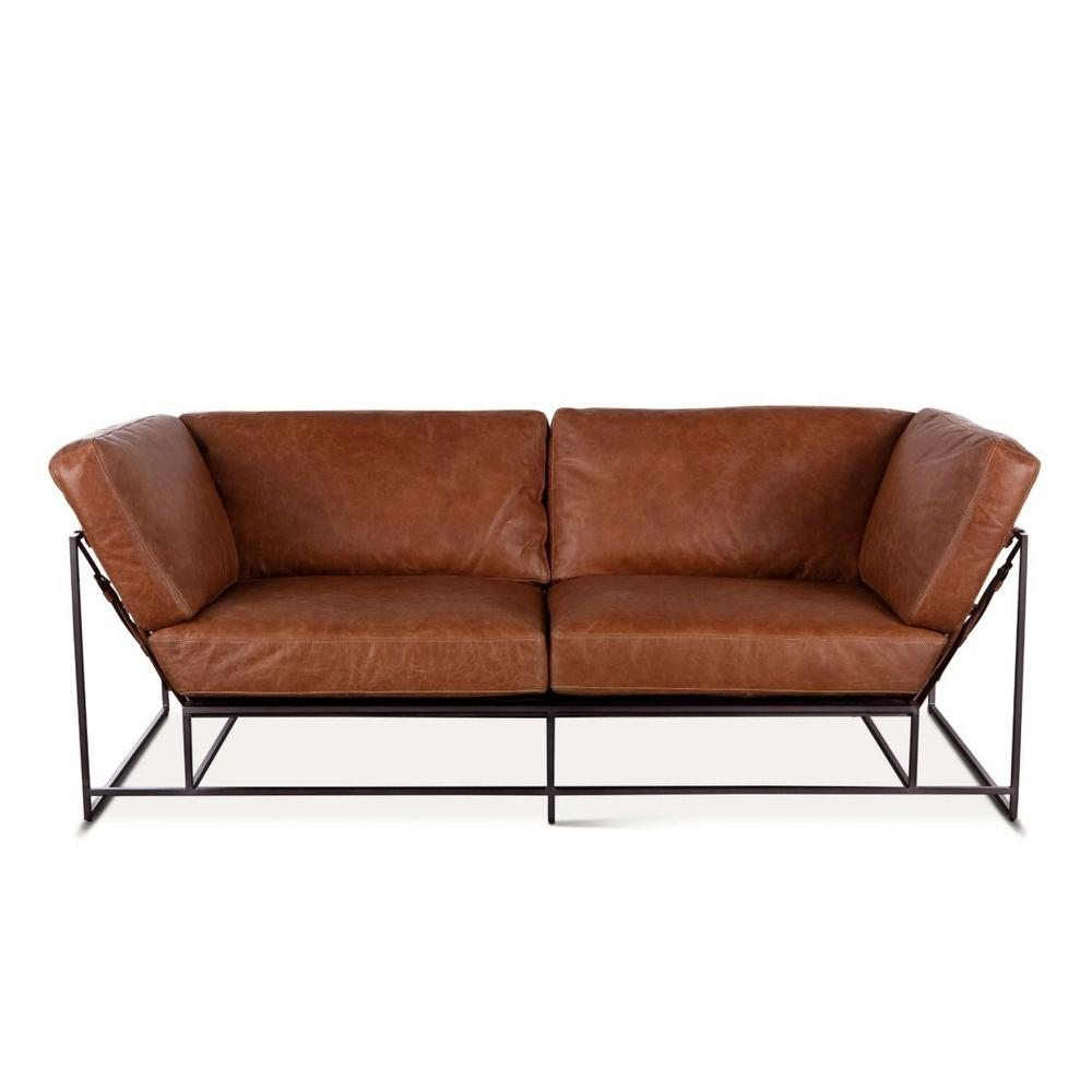 Leo Sofa in Columbia Brown Leather