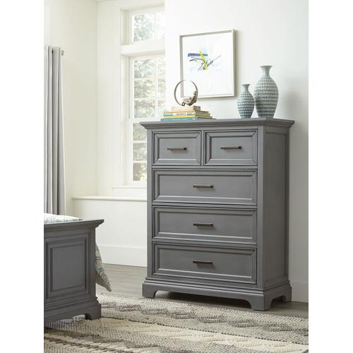 5-Drawer Chest in Mineral Gray