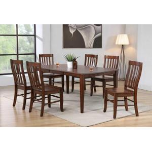 "All Wood Furniture - Oak Veneer Leaf Leg Table With 18"" Butterfly leaf"