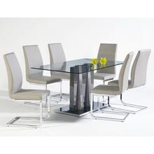 Heka W/champagne Side Chairs 7 Piece Set