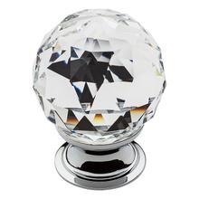 View Product - Polished Chrome Swarovski Crystal Cabinet Knob