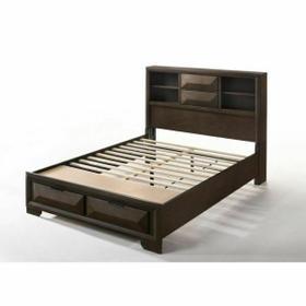 ACME Merveille Queen Bed w/Storage - 22870Q - Espresso