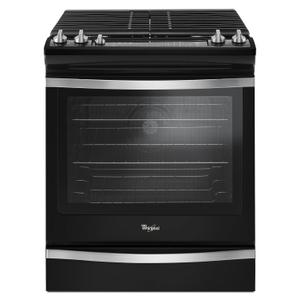 Whirlpool5.8 Cu. Ft. Slide-In Gas Range with EZ-2-Lift Hinged Grates Black Ice