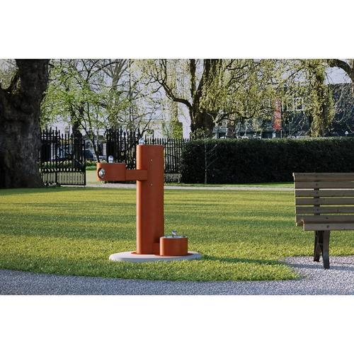 Elkay - Elkay Outdoor Fountain Bi-Level Pedestal with Pet Station, Non-Filtered Non-Refrigerated Terracotta