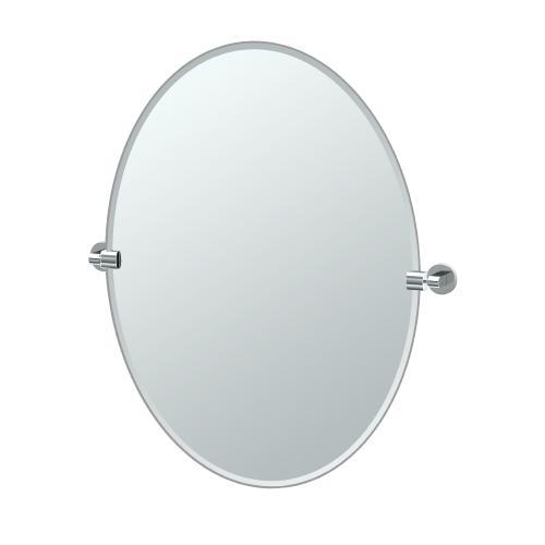 Zone Oval Mirror in Chrome