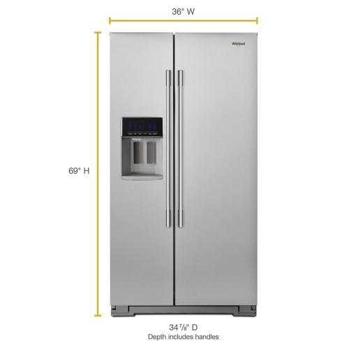 Whirlpool Canada - 36-inch Wide Contemporary Handle Side-by-Side Refrigerator - 28 cu. ft.