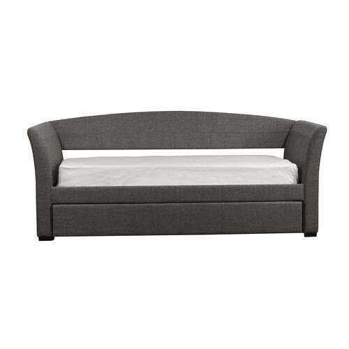 Montgomery Complete Twin-size Daybed With Trundle, Medium Gray Fabric