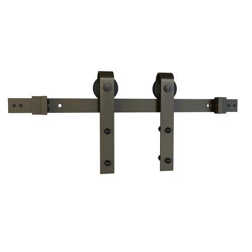 Schlage - Sliding Barn Door Hardware - 8' J Strap - Dark Bronze