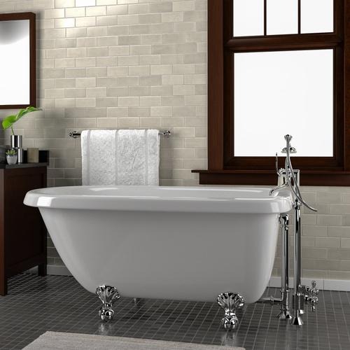 """Barclay - Alexia 54"""" Acrylic Roll Top Tub - No Drillings / Oil Rubbed Bronze"""