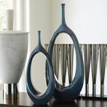 View Product - Open Oval Ring Vase-Celestial-Lg