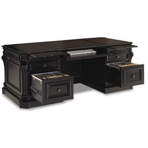 Telluride 76'' Executive Desk w/Leather Panels