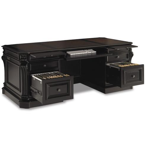 Hooker Furniture - Telluride 76'' Executive Desk w/Leather Panels